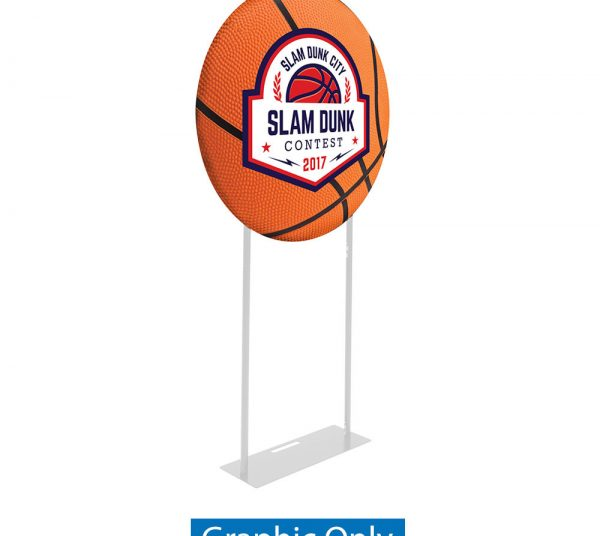 EZ Extend Circle 3ft. Display – Single-Sided Graphic Only (W/ Black Back Fabric)