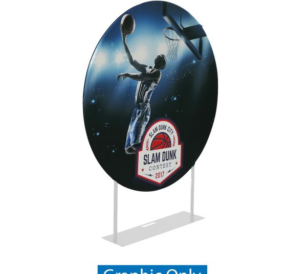 EZ Extend Circle 5ft. Display – Single-Sided Graphic Only (W/ Black Back Fabric)