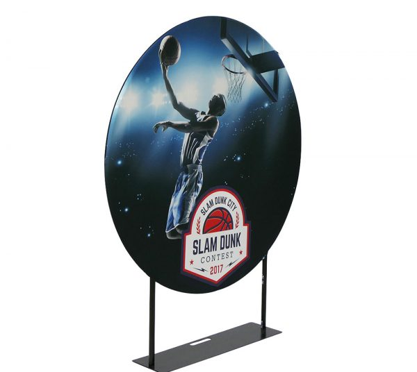 EZ Extend Circle 5ft. – Single-Sided Graphic Package (W/ Black Back Fabric)
