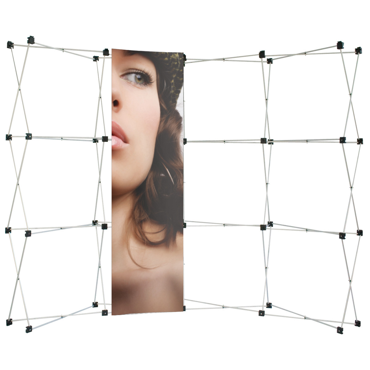 PVC Hardware /& Graphic Personalized 10ft Big Wave Pop Up Display Graphics Package