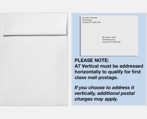 White – 100% Recycled – A7 Vertical Invitation Envelopes