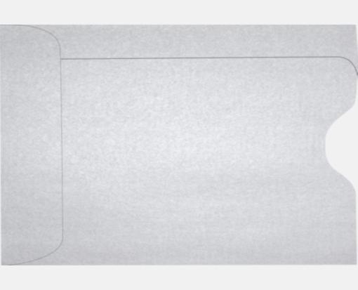 Silver Metallic – Credit Card Sleeve (2 3/8 x 3 1/2)