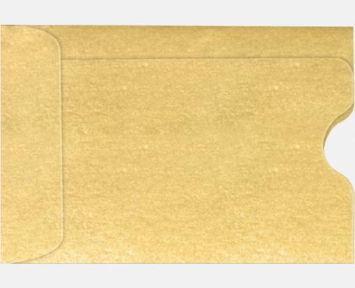 Gold Metallic – Credit Card Sleeve (2 3/8 x 3 1/2)