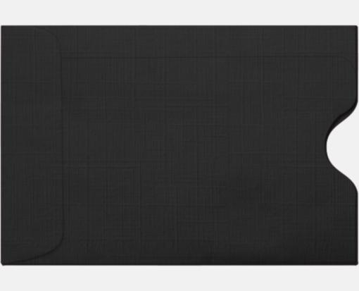 Black linen credit card sleeves 2 38 x 3 12 printearly black linen credit card sleeves 2 38 x 3 12 colourmoves