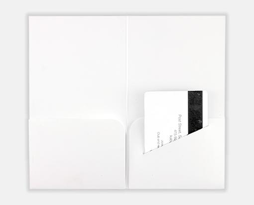 100lb. White – Hotel Key Card Holders – 3 3/8 x 6