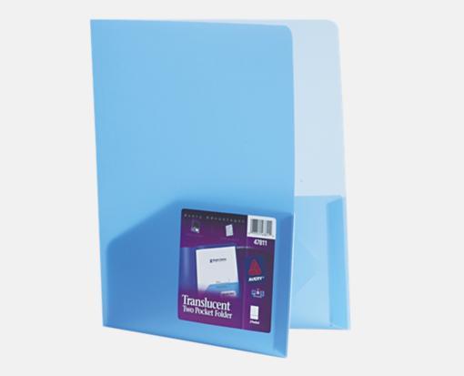 Translucent Blue – Poly Folder ( 9 1/2 x 11 1/2 )