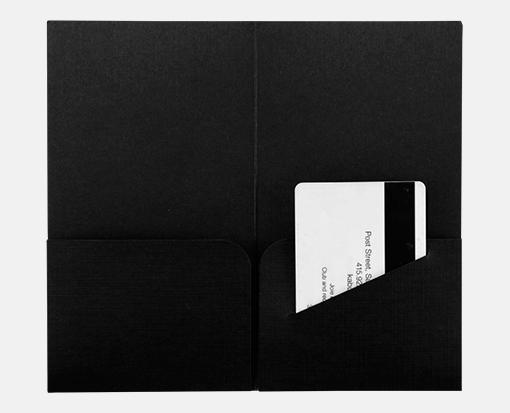 Black Linen – Hotel Key Card Holders – 3 3/8 x 6