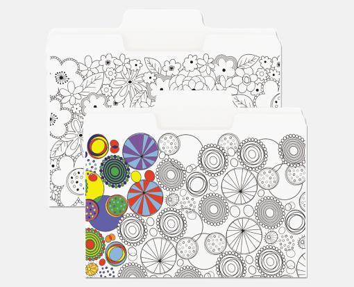 11pt. White – 9 1/2 x 11 5/8 Coloring File Folders