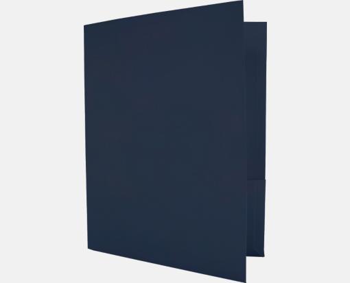 Dark Blue Linen – Capacity Folders – 9 1/2 x 12