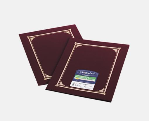Burgundy Linen – Certificate/Document Cover (9 3/4 x 12 1/2 )