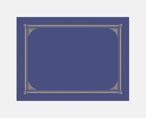 Blue Metallic Linen – Certificate/Document Cover (9 3/4 x 12 1/2 )