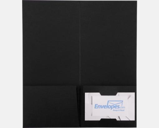 Black Linen – 4 x 9 Pocket Folders