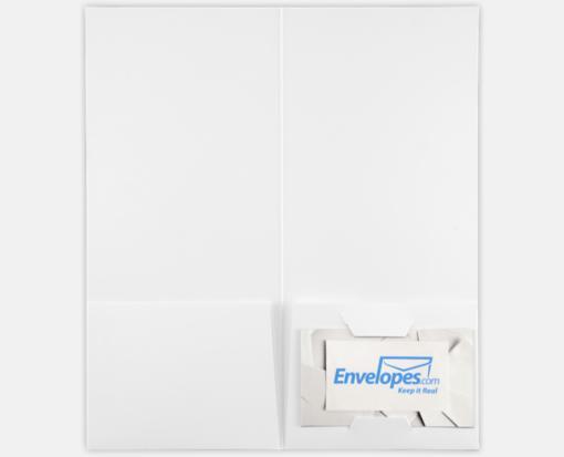 100lb. White – 4 x 9 Pocket Folders