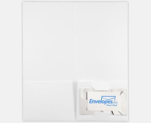 White Linen – 4 x 9 Pocket Folders