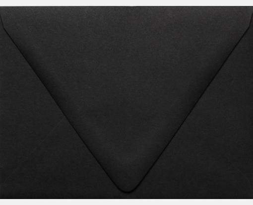 Midnight Black -A2 Contour Flap – 100% Recycled – White Envelopes (4 3/8 x 5 3/4