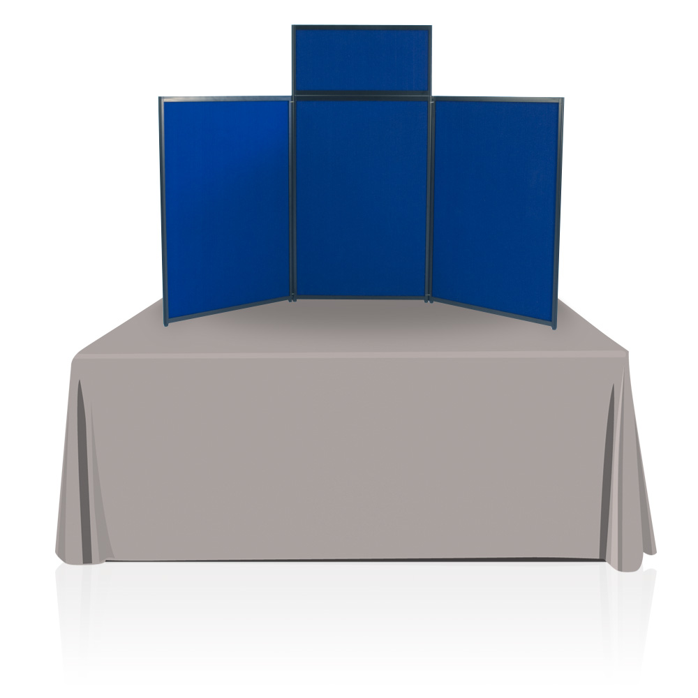 Tabletop Panel Display 6 Ft. (Blue/Dark Blue)