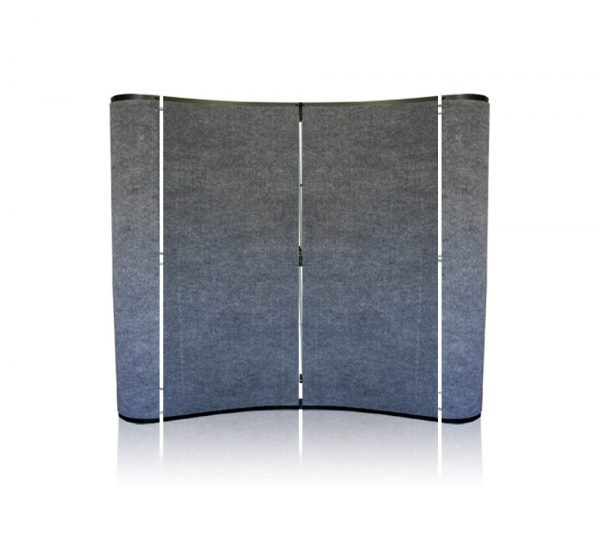 pop up display tabletop 6 ft silver fabric panel package 4 panels printearly