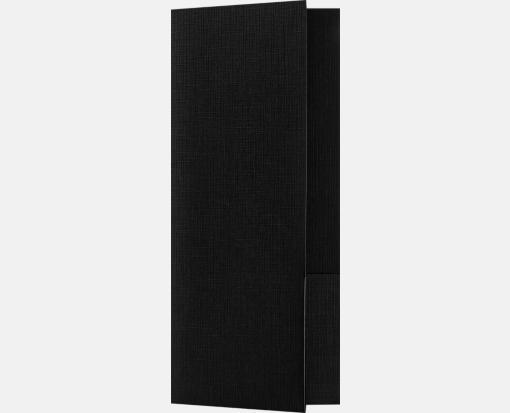 Black Linen – Mini Folders Two Pockets (4 x 9 )