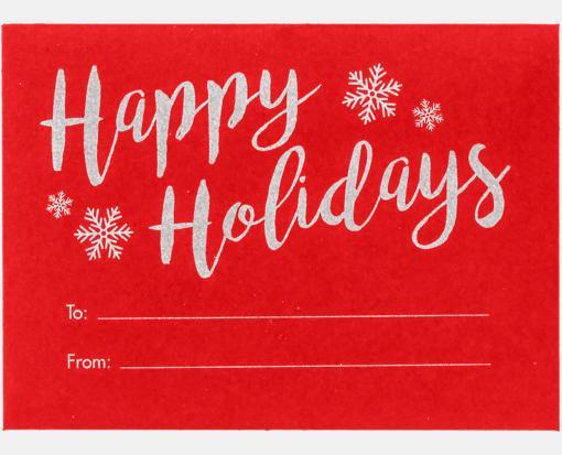 Happy Holidays on Ruby Red – #17 Mini Envelopes (2 11/16 x 3 11/16)