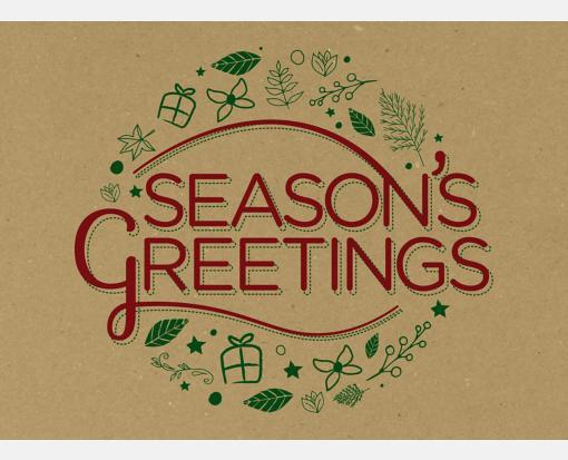 Seasons Greetings on Grocery Bag – #17 Mini Envelopes (2 11/16 x 3 11/16)