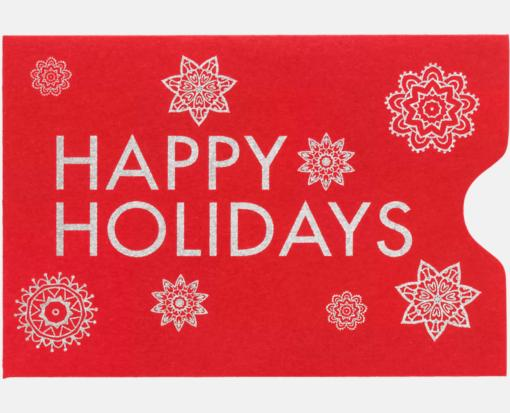 Happy holidays on ruby red credit card sleeve 2 38 x 3 12 happy holidays on ruby red credit card sleeve 2 38 x 3 12 colourmoves