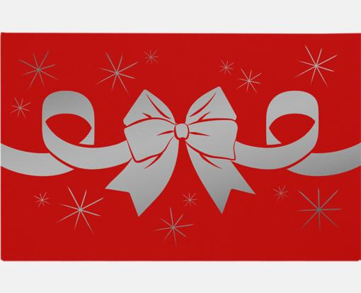 Silver Bow on Ruby Red – #1 Coin Envelopes (2-1/4 x 3-1/2)