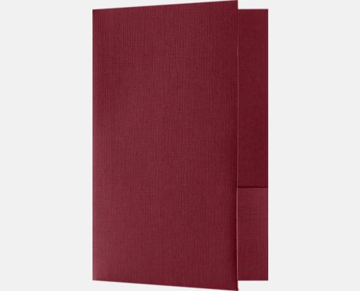Burgundy Linen – Small Presentation Folders – Two Pockets