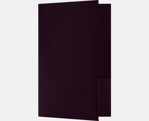 Dark Purple Linen – Small Presentation Folders – Two Pockets