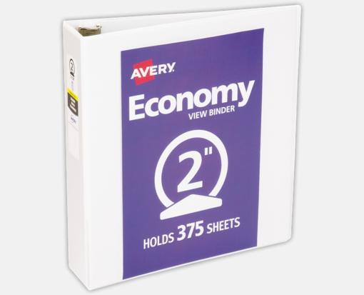 2″ Economy View Poly Binder w/ Round Rings – White