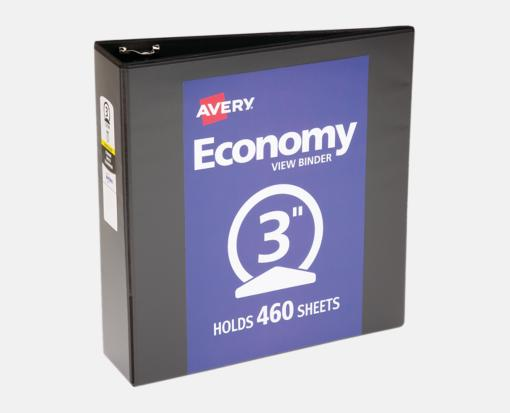 3″ Economy View Poly Binder w/ Round Rings – Black