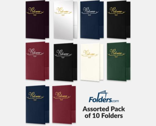 Welcome Folders – Standard Two Pockets – Assorted Pack of 10