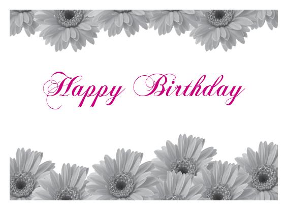 Floral Birthday – 70lb. Bright White